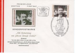 FDC - 150. Geburtstag Von Johann Strauß 24.10.1975 Ersttag - FDC