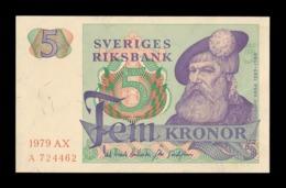 Suecia Sweden 5 Kronor 1979 Pick 51d SC UNC - Suecia