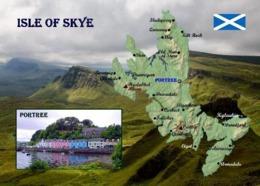 Scotland Isle Of Skye Map New Postcard Schottland Landkarte AK - Autres