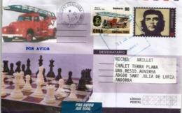 Entier Postal CHE GUEVARA, Cuba, Adressé Andorra, Avec Timbre à Date Arrivée - Altri