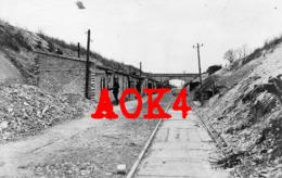 51 Marne LOIVRE Bahndamm Chemin De Fer Champagne Occupation Allemande Reims Brimont Courcy 1917 - France