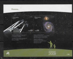 Hoja Bloque De Madeira Nº Yvert HB-28 ** ASTRONOMIA (ASTRONOMY) - Blocks & Sheetlets