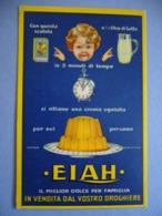 1937  ELAH CREMA DA TAVOLA CARTOLINA PUBBLICITARIA   VIAGGIATA - Publicité