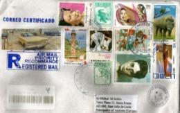 Belle Lettre Recommandée De Cuba 2019, Voir Recto & Verso, 2 Photos, Adressée Andorra, Avec Timbre à Date Arrivée - Cuba