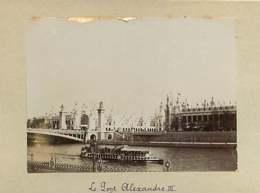 031019E - PHOTO 1900 - 75 PARIS Le Pont Alexandre III - Bateau - Bridges