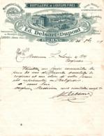 9101  -2019   FACTURE DISTILLERIE  ED. DELSART-DUPONT A HORNU - Francia