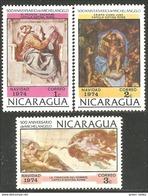 684 Nicaragua Tableau Michel Ange Michaelangelo Paintings MNH ** Neuf SC (NIC-426b) - Arts