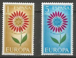 SPAIN - 1964 Europa MNH **  SG 1674-5  Sc 1262-3 - 1961-70 Neufs