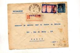 Lettre Recommandée Paris 118 Sur Semeuse Algerie - Cachets Manuels