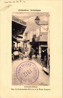 CPA MAROC CASABLANCA - Rue Du Commandant-Prevost Et La Poste Francaise (219984) - Casablanca
