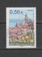 "FRANCE / 2009 / Y&T N° 4337 : ""Tourisme"" (Menton - Alpes-Maritimes) - Choisi - Cachet Rond - Used Stamps"