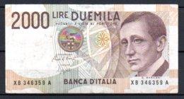 Italie Billet De 2000 Lire 1990 XB346A - [ 2] 1946-… : Republiek