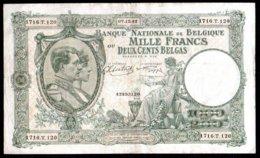 Belgique Billet De 1000 Francs 1942 1716T120 - [ 2] 1831-... : Regno Del Belgio