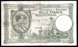 Belgique Billet De 1000 Francs 1942 1716T120 - [ 2] 1831-... : Koninkrijk België