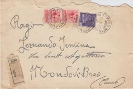 R.S.I. - REPUBBLICA SOCIALE ITALIANA - BUSTA CON BOLLINO RICEVUTA DI RITORNO 2 VALORI Cent.75 + 1 VALORE Lire 1 - 4. 1944-45 Repubblica Sociale