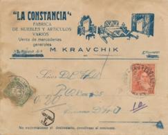 Argentina / Curacao - 1937 - 10 Cent Port P23 Enkelfrankering Op Taxed Businesscover Van San Fernando Naar Curacao - Curaçao, Antilles Neérlandaises, Aruba