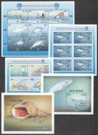 A333 1998 MALDIVES FISH & MARINE LIFE FAUNA YEAR OF THE OCEAN !!! 3KB+2BL MNH - Meereswelt