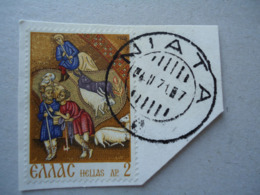 GREECE  USED  STAMPS  WITH POSTMARK  ΝΙΑΤΑ - Affrancature Meccaniche Rosse (EMA)