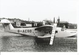PHOTO AVION HYDRAVION G-ACGO  SARO CLOUD  A IDENTIFIER   RETIRAGE  14X10CM - 1939-1945: 2ème Guerre
