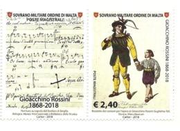 2018 - Sovrano Militare Ordine Di Malta 1467 Morte Di Gioacchino Rossini - Celebrità