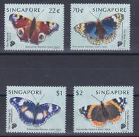 BUTTERFLIES SCHMETTERLINGEN PAPILLONS MARIPOSAS SINGAPORE 1999  MNH STAMP SET JOINT ISSUE WITH SWEDEN Slania - Vlinders