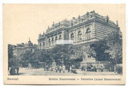 Bucuresti - Spitalul Brancovenesc, Deutsches Lazaret Brancovenesti - Old Romania Postcard - Roemenië