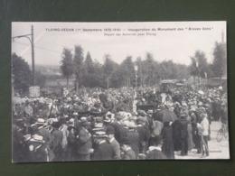 """FLOING-SEDAN (1 Sept 1870-1910) Inauguration Du Monument Des """"Braves Gens"""" Départ Des Autorités Par Floing - Sedan"""