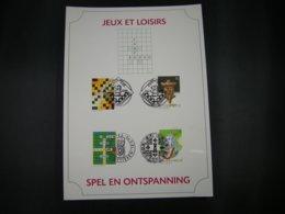 """BELG.1995 2592 2593 2594 & 2595 FDC Filatelic Card   :  """" Spel En Ontspanning / Jeux Et Loisirs """" - FDC"""