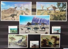 A349 MALDIVES DINOSAURS PREHISTORIC ANIMALS FAUNA !!! 3KB+2BL+1SET MNH - Stamps