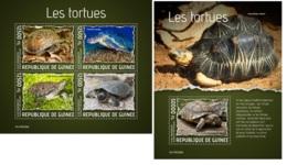 Guinee 2019 Turtles Fauna Turtle MS+S/S GU190326 - Arañas