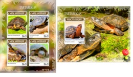 Mozambique 2019 Turtles Fauna Turtle MS+S/S MOZ190407 - Francobolli