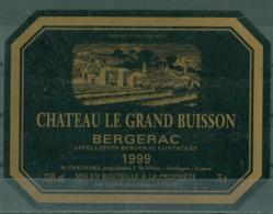 BERGERAC - CHATEAU LE GRAND BUISSON - 1999 APPELLATION BERGERAC CONTROLEE (Etiquette Neuve)  12,5 % Vol.   75 Cl - Bergerac