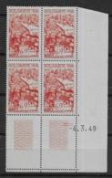 1949 Maroc N° PA 71 Nf** MNH. ' Bloc Coin Daté 4. 3. 49 ). Poste Aérienne . Œuvres De Solidarité - Marokko (1891-1956)