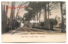 Wynberg - Main Road & Cogill's Hotel, Tram Stop - 1907 Used South Africa Postcard - South Africa