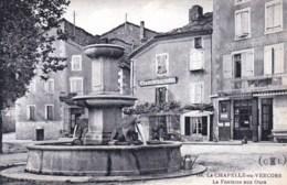26 - Drome -  LA CHAPELLE EN VERCORS  - La Fontaine Aux Ours - Café De La Treille - Café Du Centre - Frankreich