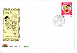 """"""" SAINT VALENTIN / COEUR / AMOUR / LOVE """" Sur Enveloppe 1er Jour D'IRLANDE. Parfait état FDC - FDC"""