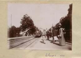 031019G - PHOTO 1900 - 78 LE VESINET Gare Chemin De Fer Train Locomotive Passager - Le Vésinet