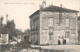 55 Savonnieres En Perthois La Poste PTT Cpa Carte Animée Carte Ecrite En 1917 - France