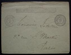 1914 Postes Gare De Rassemblement 7e Corps Cachets Sur Lettre Pour Paris - Postmark Collection (Covers)