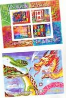 Nouvelle Calédonie BF 23/24 Année Du Dragon, Festival Des Arts Neuf * * TB  MNH Valeur Faciale 4.1 - Blocks & Kleinbögen