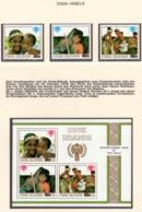 YEAR INTERN. OF CHILD - COOK ISLANDS - Mi. Nr.  618/620 + BF 91 - NH - (6532-15.) - Cook