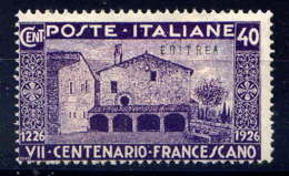 ERYTHREE - 103* - St FRANCOIS D'ASSISE - Erythrée