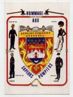 CARTE HOMMAGE AUX SAPEURS POMPIERS - 33 - BORDEAUX - DEDICACEE PAR L'ILLUSTRATEUR JC OLIVIER - 300 Exemplaires - Sapeurs-Pompiers