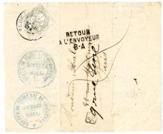 CHER BJ AVEC IMPRIME 1905 BOURGES T84 SUR 1C BLANC + RETOUR PARIS  8A VERSO Inconnu Au 9 Rue De Sine - Marcophilie (Lettres)