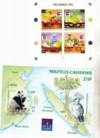 Nouvelle Calédonie BF 16/17, 19 Expos Hong Kong Et Séoul Alphonse Daudet Neuf * * TB  MNH Cote 22.1 - Blocks & Kleinbögen