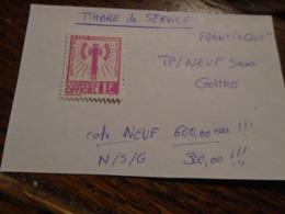 FRANCISQUE N° 6 (Neuf Sans GOMME) Voir DESCRIPTIF  Avec Cote !!! 5 Photos Recto/Verso - Dienstpost