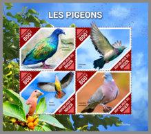 NIGER 2019 MNH Pigeons Doves Tauben M/S - OFFICIAL ISSUE - DH1940 - Duiven En Duifachtigen