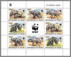 NIGER 2019 MNH Hyaena Hyaena WWF Hyena Hyäne Hyene Overprint GOLD M/S II - OFFICIAL ISSUE - DH1940 - W.W.F.