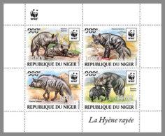 NIGER 2019 MNH Hyaena Hyaena WWF Hyena Hyäne Hyene Overprint SILVER M/S I - OFFICIAL ISSUE - DH1940 - W.W.F.