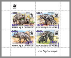 NIGER 2019 MNH Hyaena Hyaena WWF Hyena Hyäne Hyene Overprint PURPLE M/S I - OFFICIAL ISSUE - DH1940 - W.W.F.